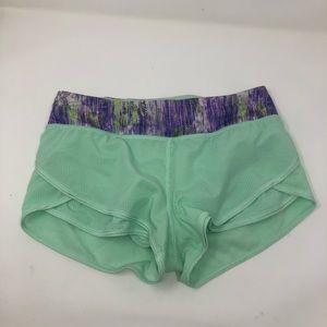Ivivva 12 girls running shorts lined lululemon